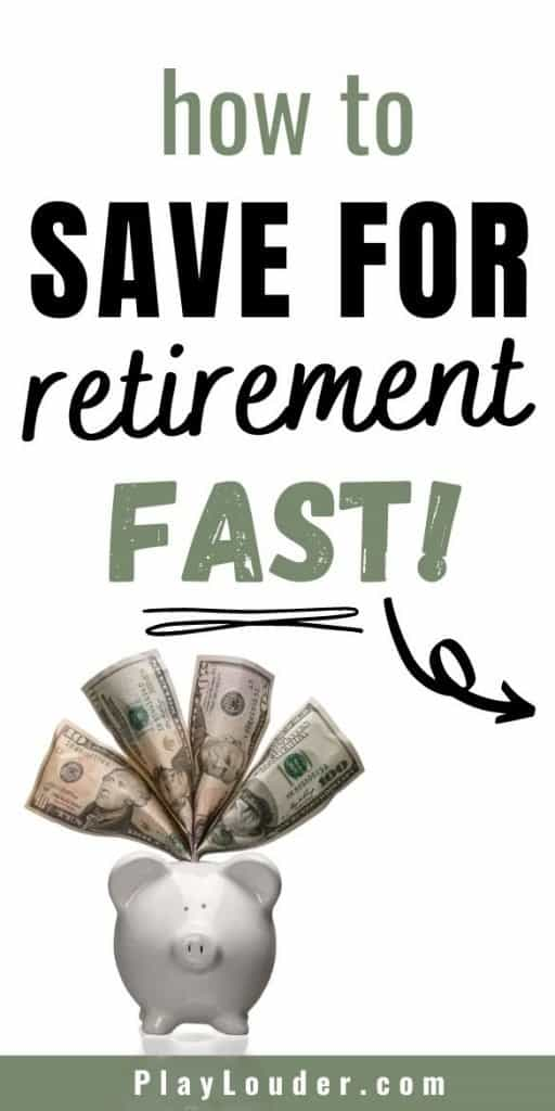 Learn the secret to saving money for retirement with these easy money saving tips, so you can save for retirement fast! #FIRE #financialindependence #retireearly #savemoney