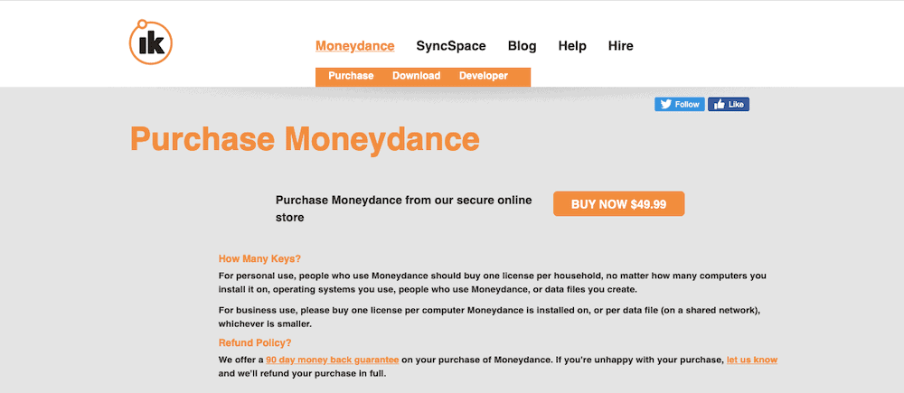 Personal Bookkeeping Software moneydance