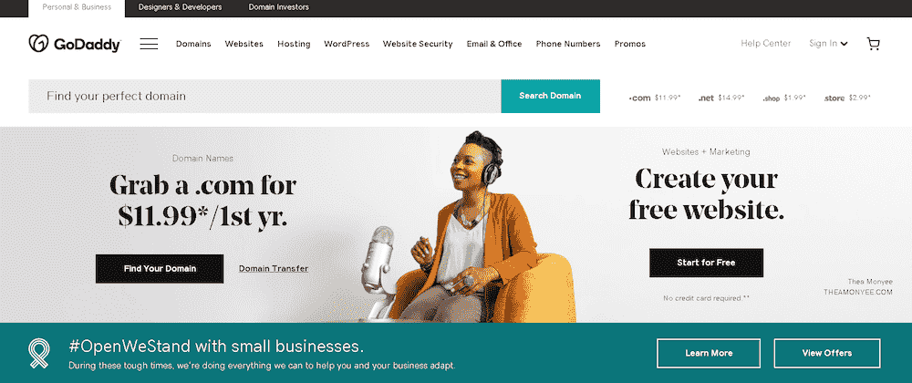 2020 09 11 10 35 01 Domain Names Websites Hosting Online Marketing Tools GoDaddy sm