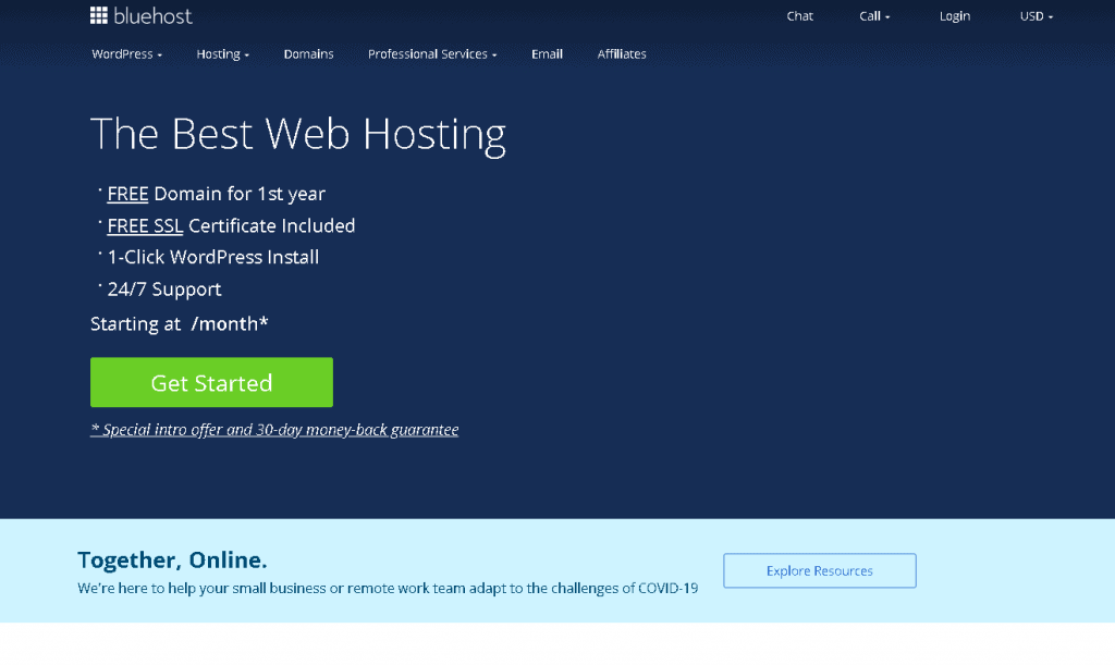 Best Hosting Companies blue host