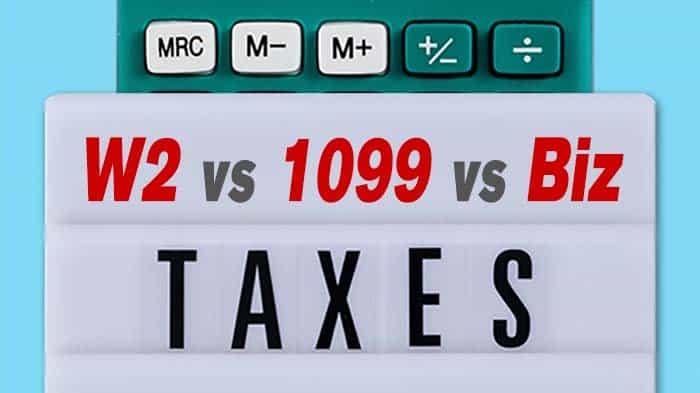 1099 vs W2 Tax Calculator